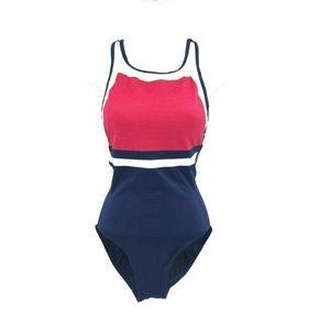 Body ID Color Block One Piece Swim Suit Size 10